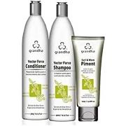 Grandha Curl & Wave Kit Manutenção Cachos - Shampoo 300ml Conditioner 300ml Leave-in 150ml
