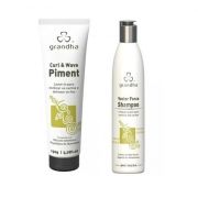 Grandha Vector Force Shampoo 300ml + Grandha Curl & Wave Piment 150g Leave-in Ativador De Cachos