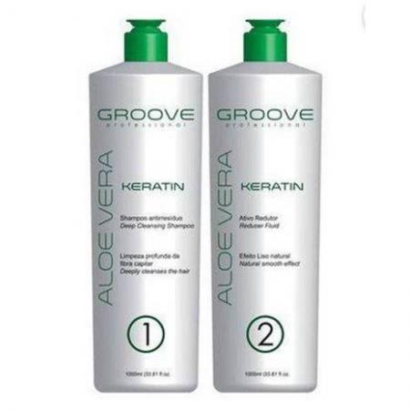 Groove Professional Kit Aloe Vera Keratin - Escova Progressiva 2x1L