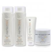 Kit Quarteto Shampoo + Condicionador + Leave-in + Máscara Perfect Liss Turmalina
