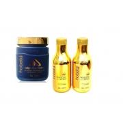 Kit Shampoo e Hidratante 300g + Máscara 750g Hobety Banho de Ouro
