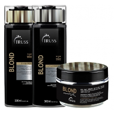 Kit Truss Trio Specific Blond Hair Shampoo 300ml + Condicionador 300ml + Máscara 180g