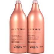 Loreal Professionnel Duo Absolut Repair Pós Química Multi-reconstrutor Shampoo e Cond 1500ml - CA