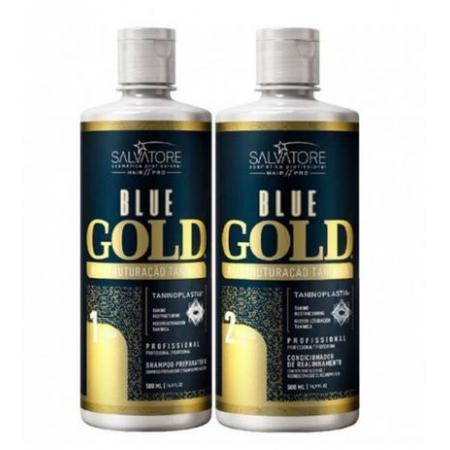 Salvatore Escova Progressiva Blue Gold 2x500ml - R