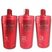 Trio Escova Progressiva Agi Max Soller Red Kera-X - 3x1000ml
