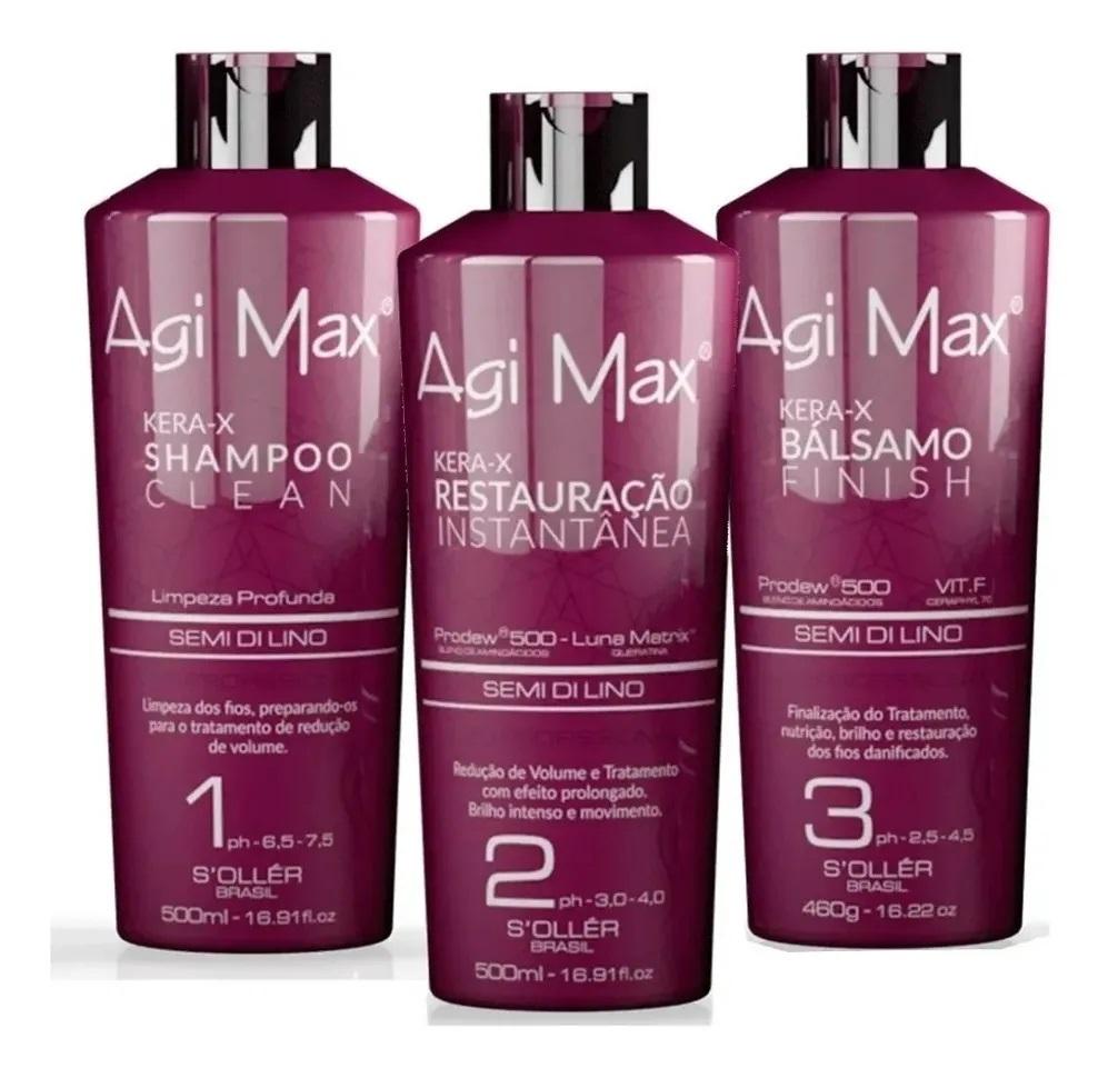 Agi Max Soller Red Kera-X Kit Escova Progressiva - 2x500ml + 1x460g