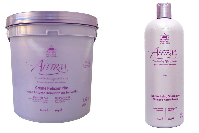Avlon Affirm Relaxamento Sódio Resistente Plus 1,8 Kg + Avlon Affirm Shampoo Normalizing 475ml