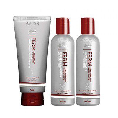Avlon Ferm Permanente Afro Kit 3 Produtos