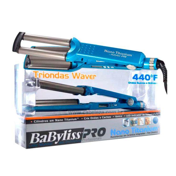 Babyliss Pro Modelador Nano Titanium Triondas Waver - 230ºC/440ºF