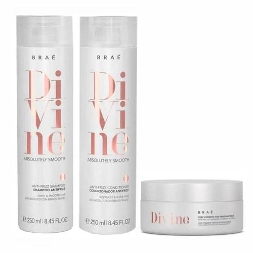 Braé Divine Shampoo, Condicionador e Mascara Líquida