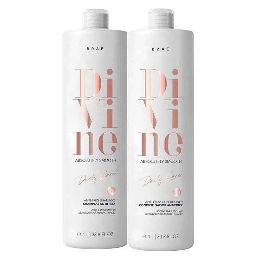 Braé Divine Shampoo e Condicionador Antifrizz 2x1L