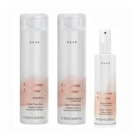Braé Gorgeous Volume Shampoo Condicionador e Texturizador
