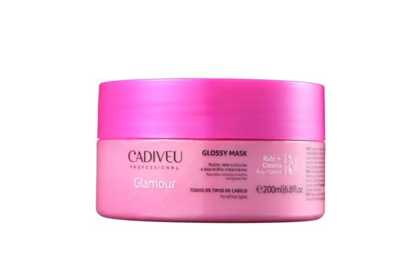 Cadiveu Glamour Rubi Glossy - Máscara Capilar 200ml - P