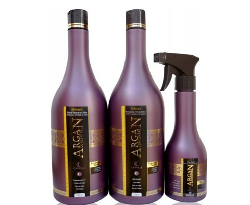 Capelli Argan Concentré Cauterização Hidratação e Reconstrução - Kit 3 Produtos - R