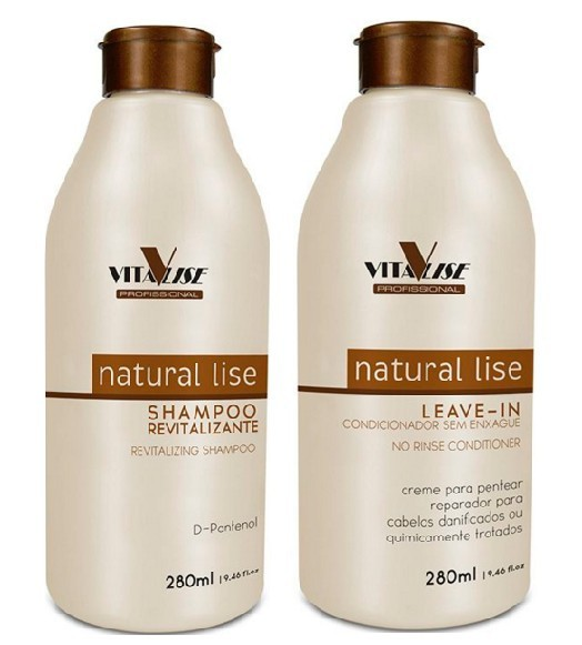 Detra Duo Natural Lise Shampoo + Leave-in 280ml - R