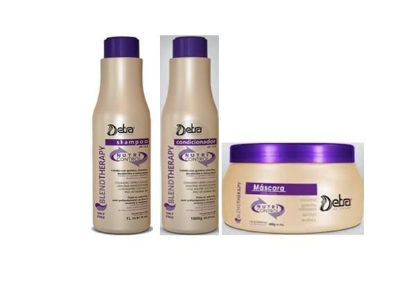 Detra Nutri Control Shampoo 2x500ml Condicionador 2x500ml e Máscara 400g - R