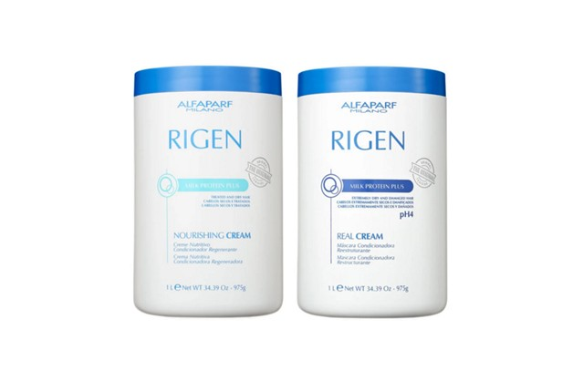 Duo Rigen Milk Protein Plus Nourishing+Rigen Milk Protein Plus Real Cream Alfaparf  2x1kg