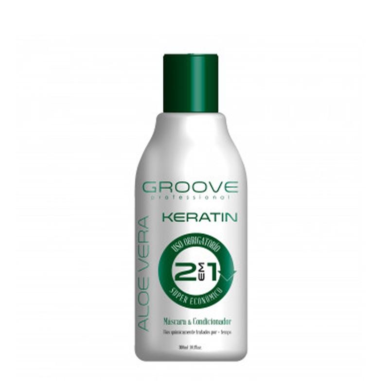 Groove Professional Aloe Vera Keratin - Complexo 2 em 1 Pós Química 300ml
