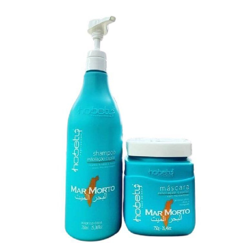 Hobety Mar Morto Kit Shampoo 750ml + Máscara 750gr