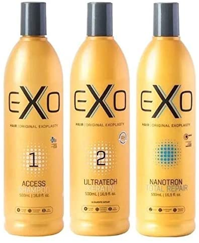 Kit Exo Hair Ultratech Exoplastia Capilar Nanotrônica 3x500ml - CS