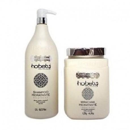 Kit Shampoo 1,5L e Máscara 1,25kg Hidratante Hobety