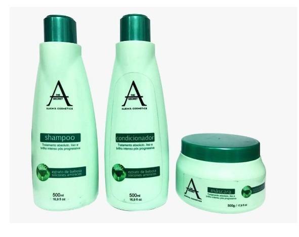 Kit Tratamento Babosa Alkimia Cosmetics 3x500ml