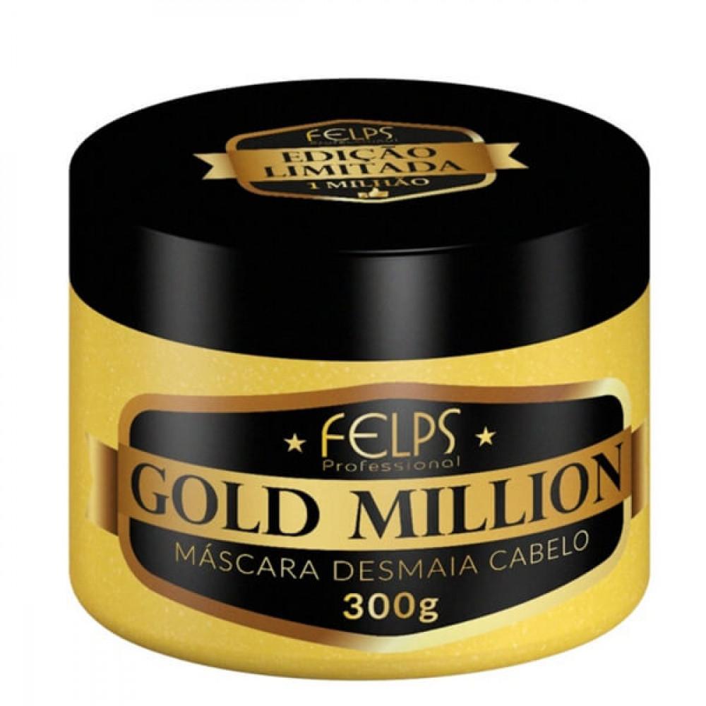 Máscara Gold Million Desmaia Cabelo Felps Profissional 300g