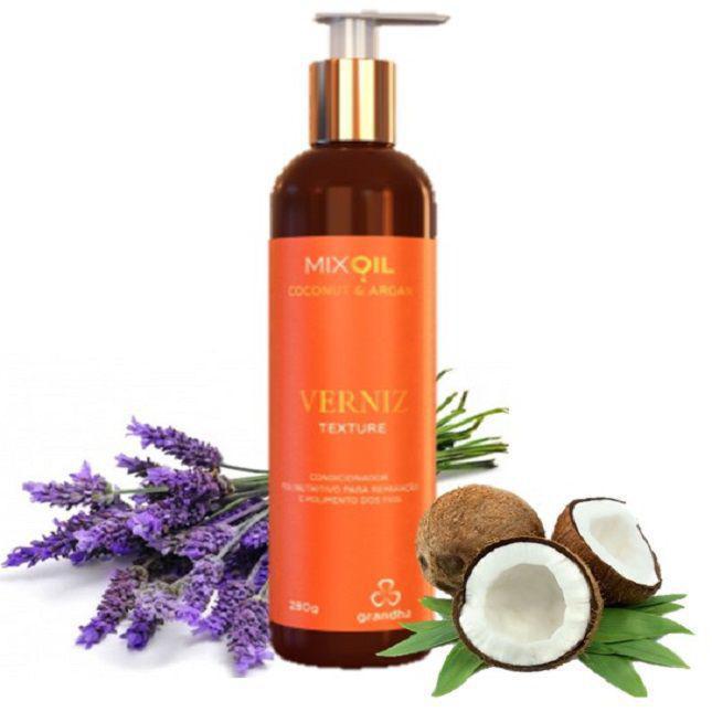 Mix Oil Coconut & Argan Verniz Texture Grandha 280g