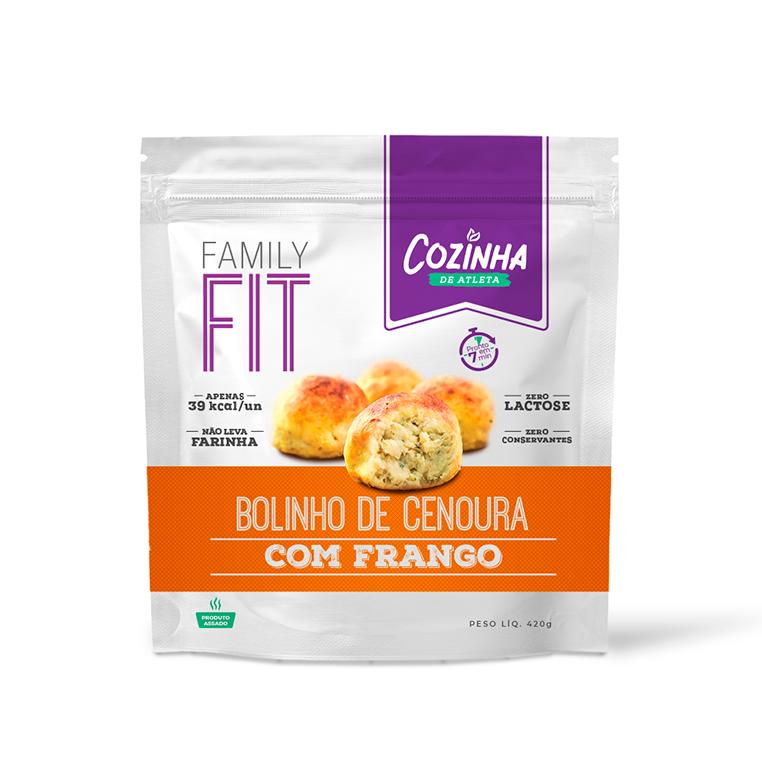 Bolinho de Cenoura com Frango - 12 unidades