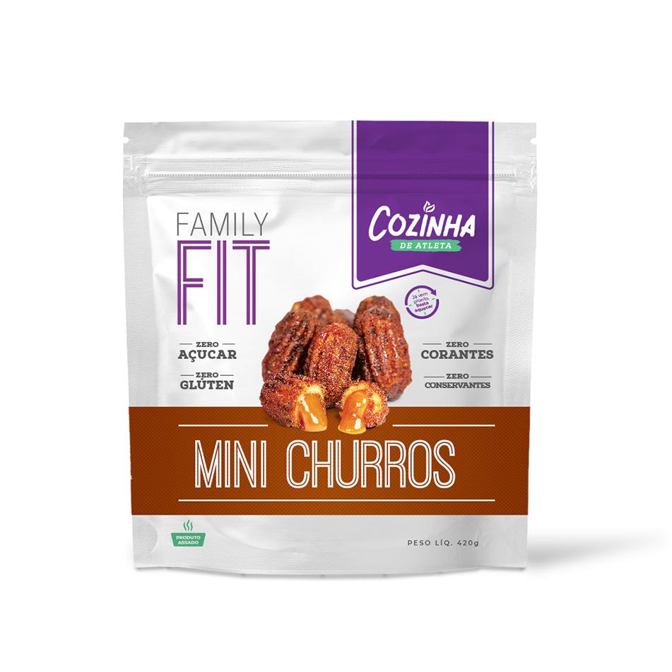 Mini Churros de doce de leite zero açúcar - 14 unidades
