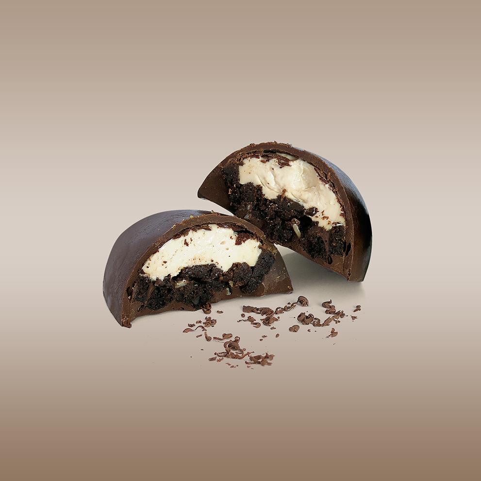 Ovo de chocolate recheado com Brownie zero