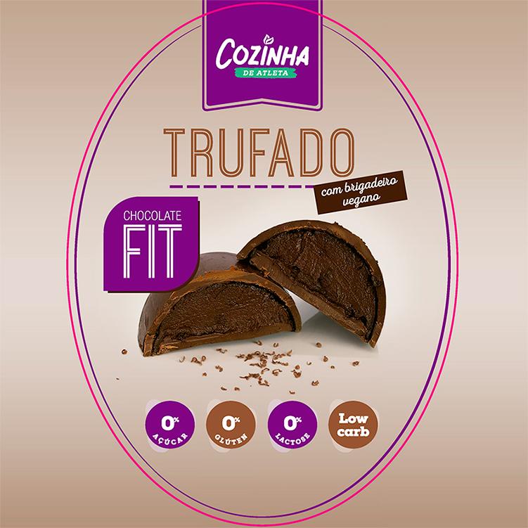 Ovo de chocolate Trufado com Brigadeiro vegano