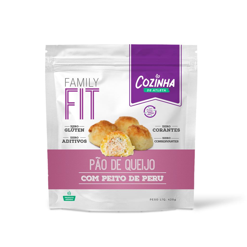 Pão de Queijo com Peito de Peru - 20 unidades