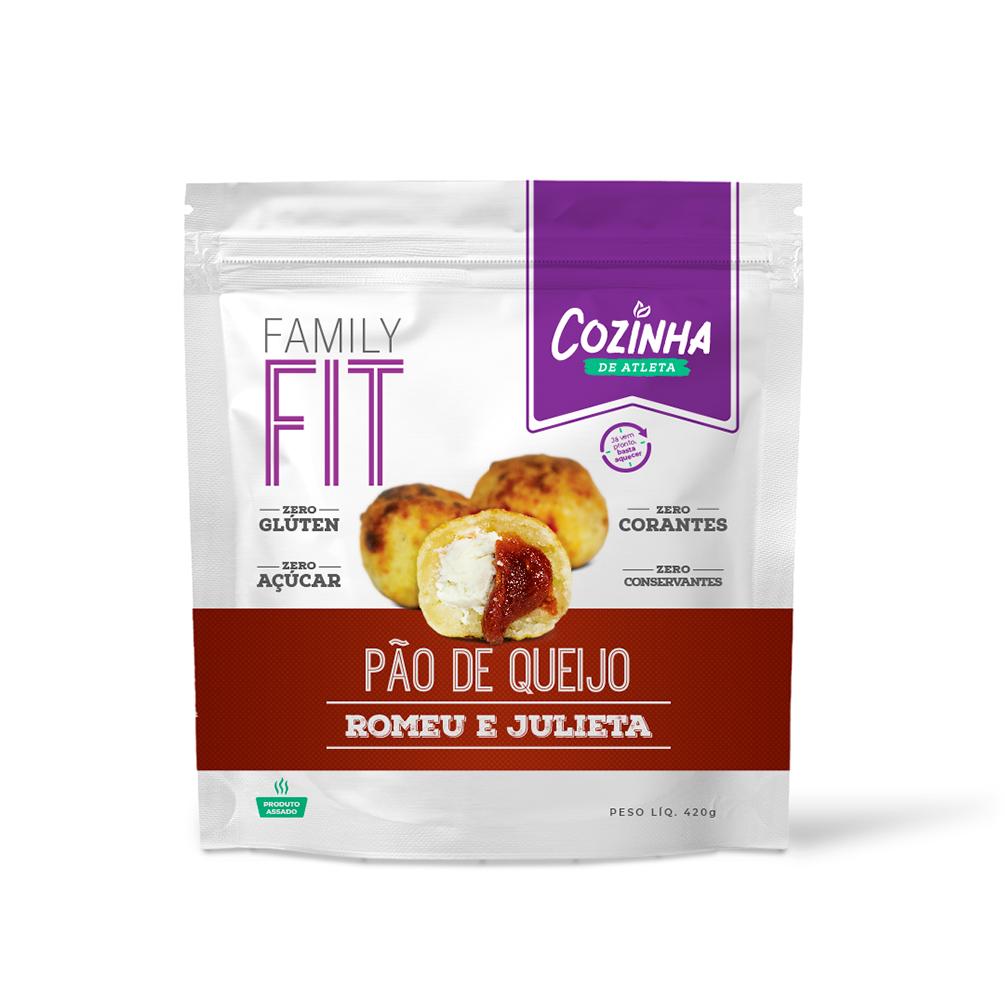 Pão de queijo Romeu e Julieta zero açúcar - 18 unidades