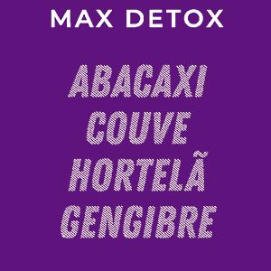"""Suco prensado a frio """"Max detox"""" 300ml"""