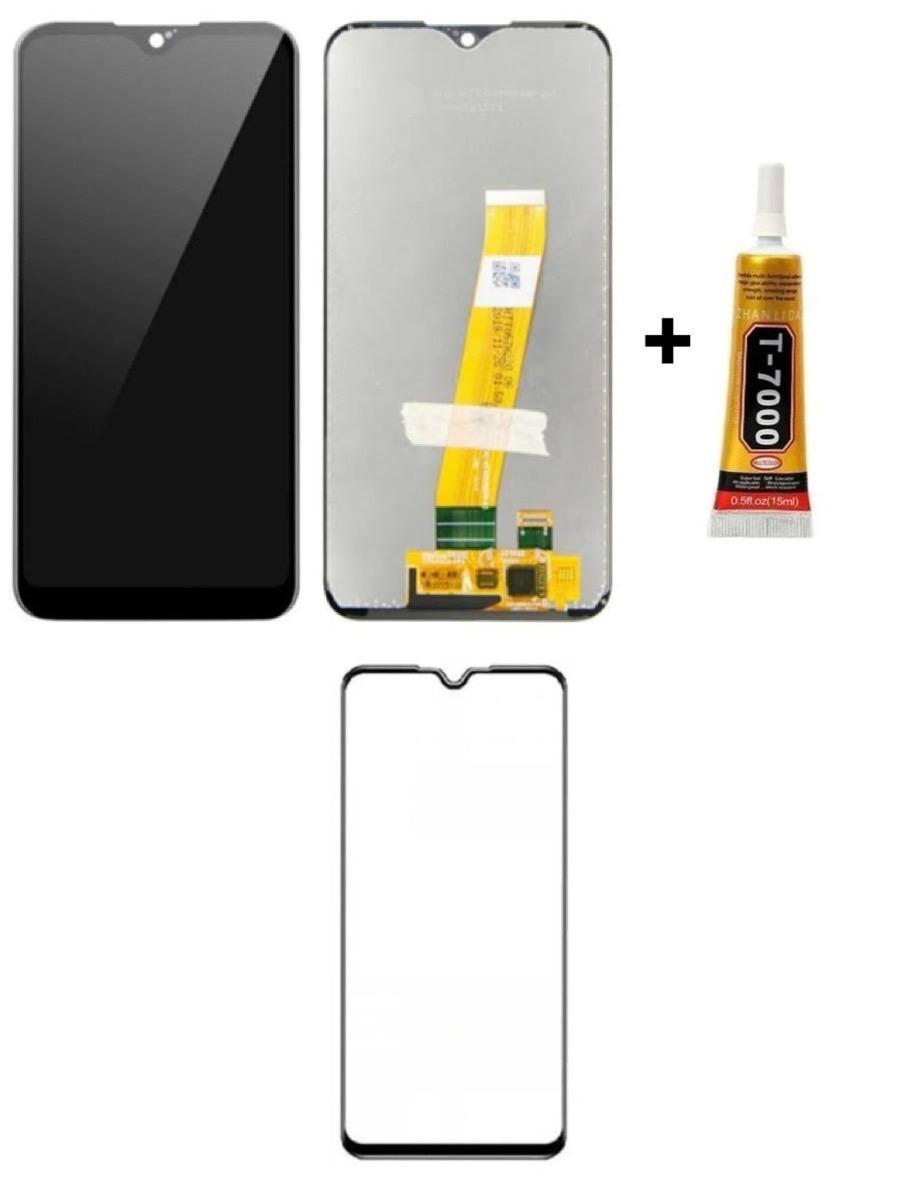 Tela Display Galaxy A01 + Cola + Película 3D