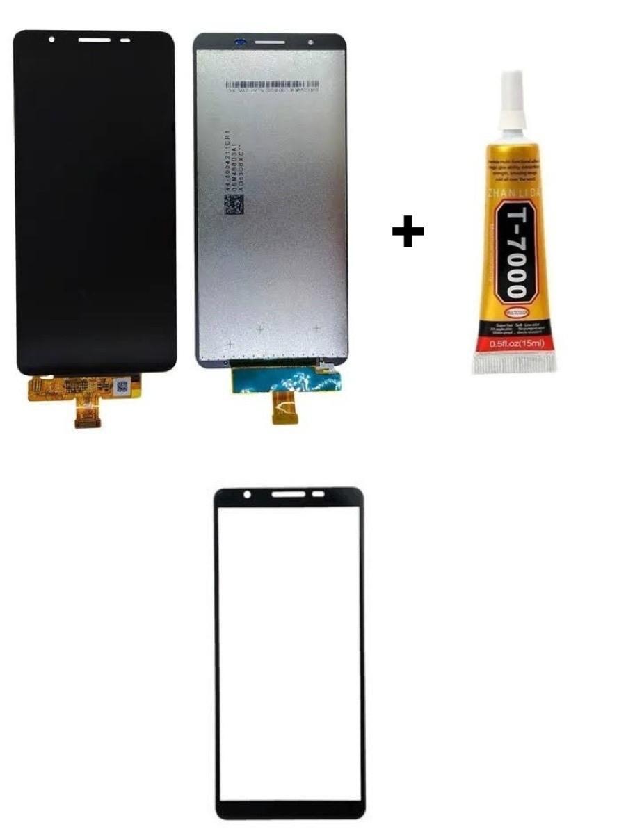 Tela Display Galaxy A01 Core + Cola + Película 3D