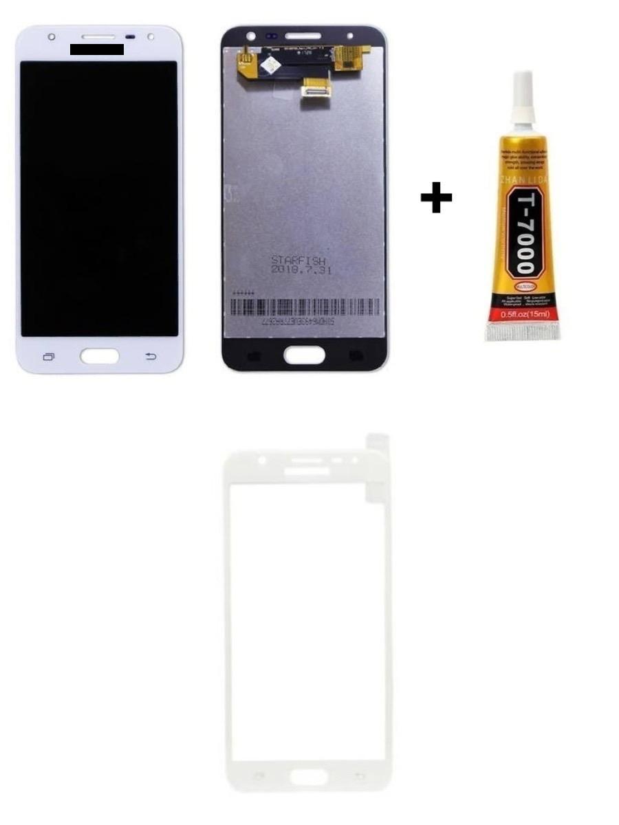 Tela Display Galaxy J5 Prime + Cola + Película 3D Branca
