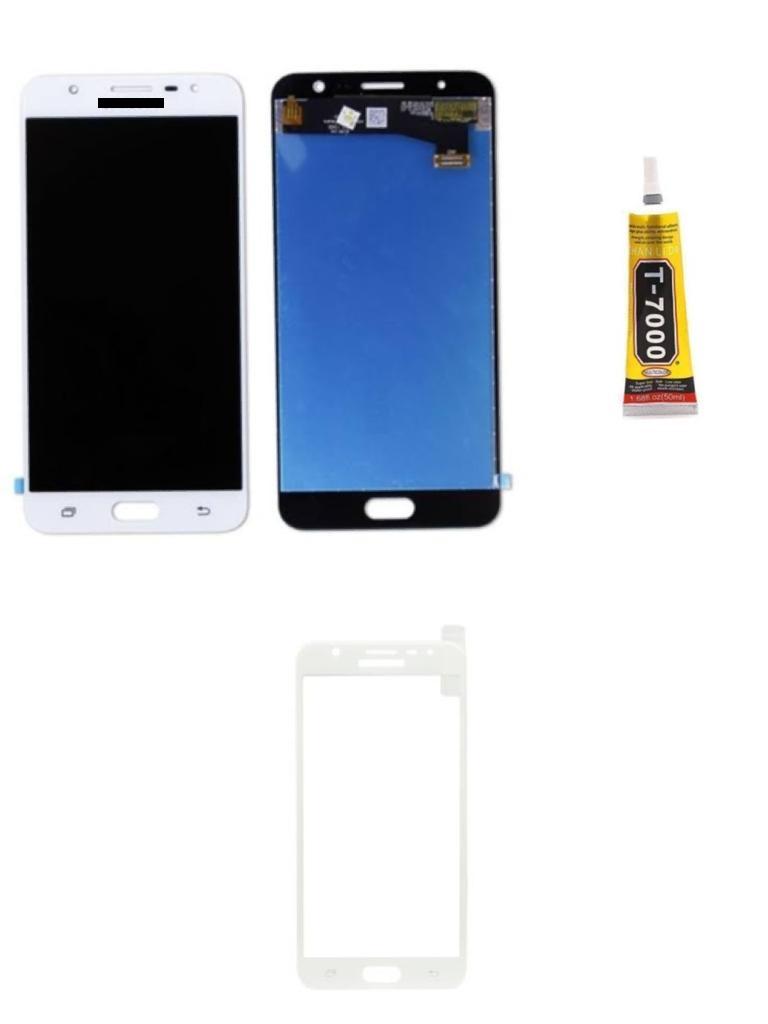 Tela Display Galaxy J7 Prime + Cola + Película 3D Branca