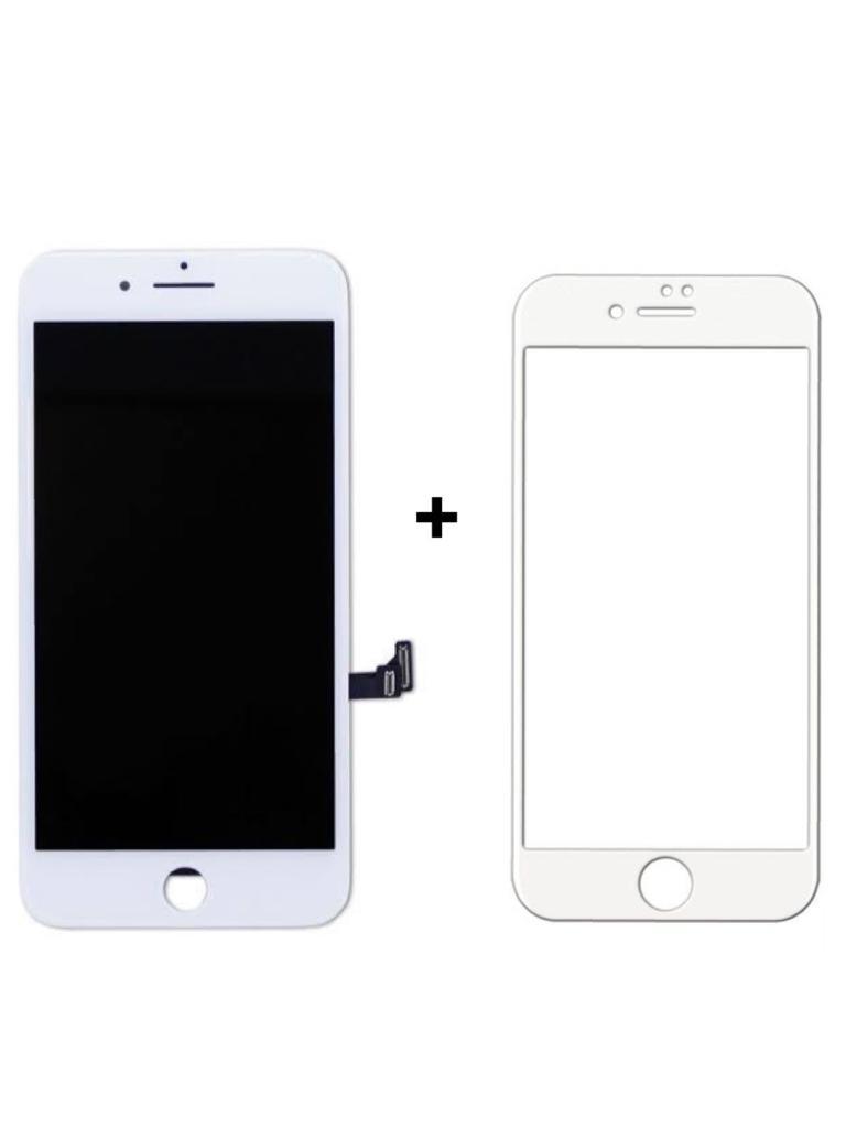 Tela Display iPhone 7 Plus + Película 3D Branca