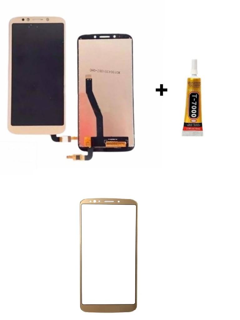 Tela Display Moto E5 Play + Cola de 15ML + Película 3D Dourada