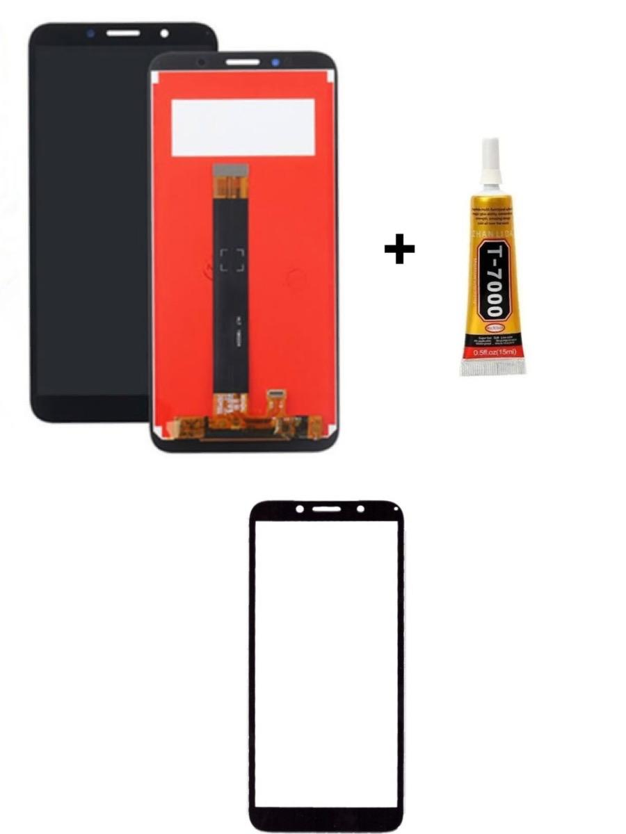 Tela Display Moto E6 Play + Película 3D + Cola de 15ML