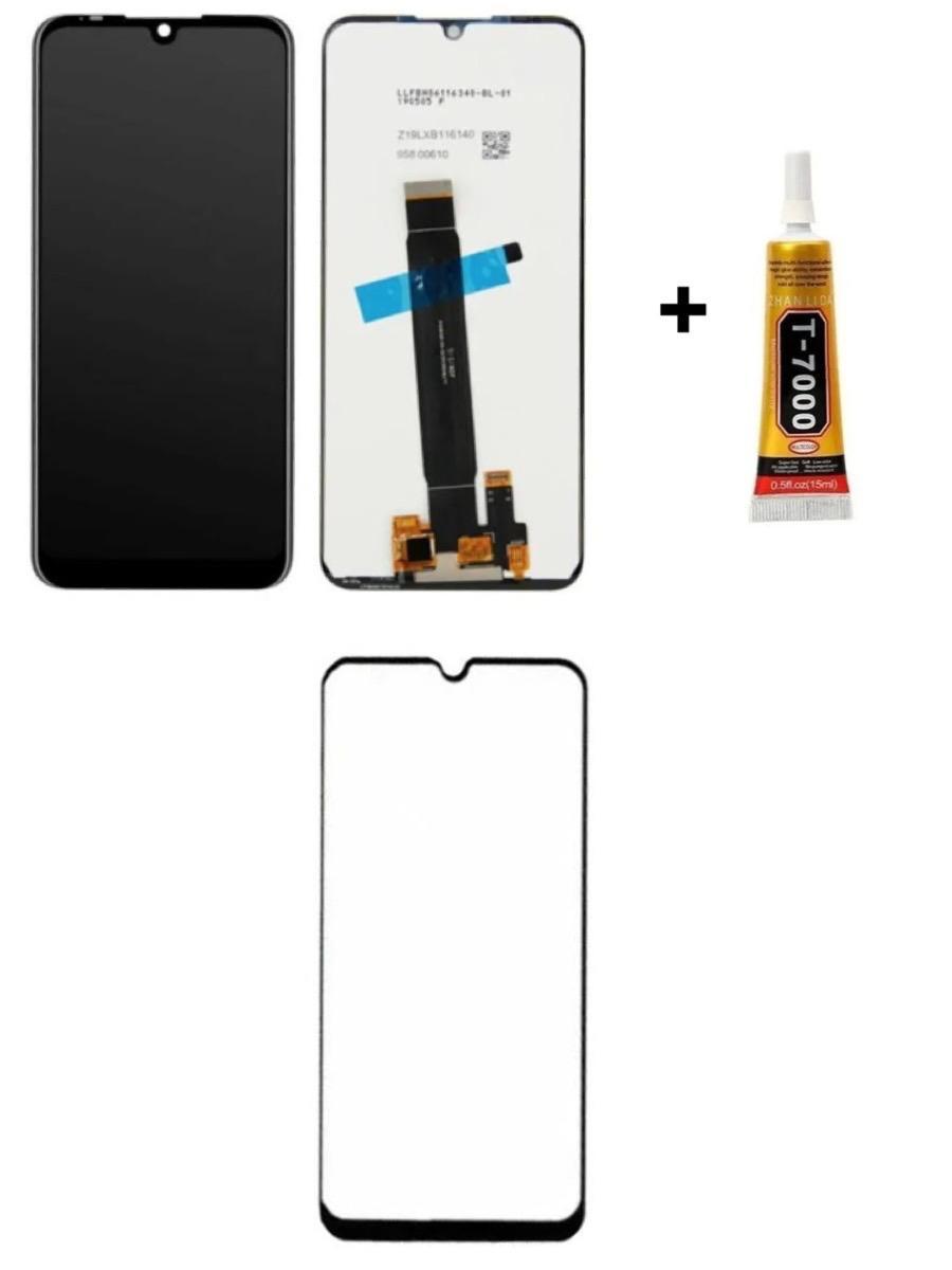 Tela Display Moto E6 Plus + Película 3D + Cola de 15ML