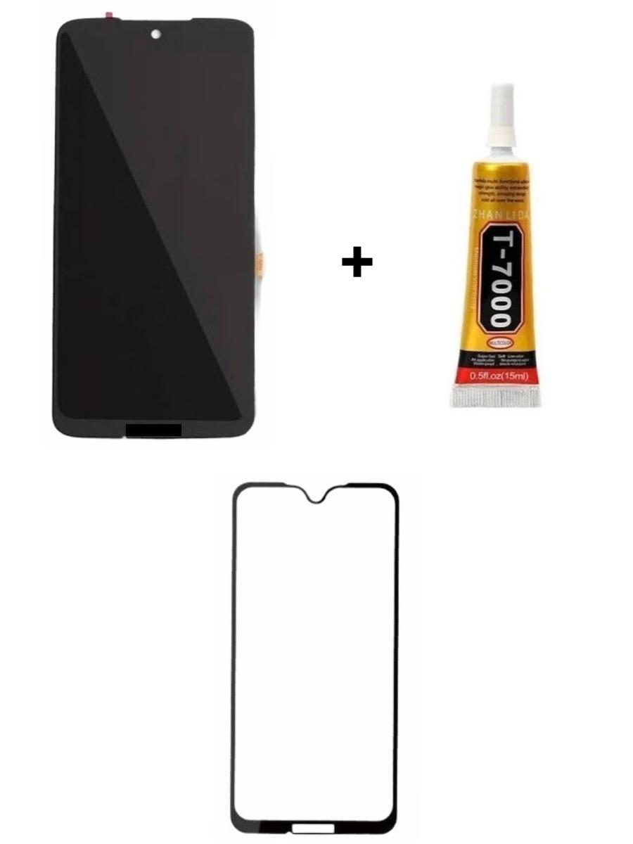 Tela Display Moto G7/G7 Plus + Película 3D + Cola de 15ML