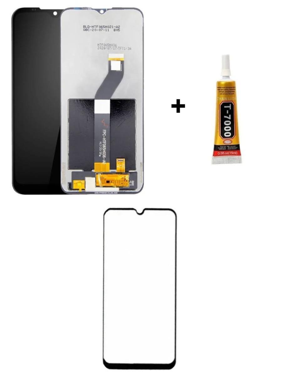 Tela Display Moto G8 Power Lite + Película 3D + Cola de 15ML