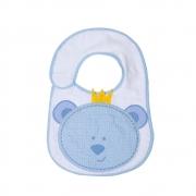 Babador Bebê Felpudo Ursinho  Azul