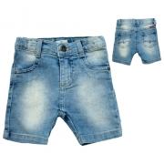 Bermuda Bebê Jeans Azul