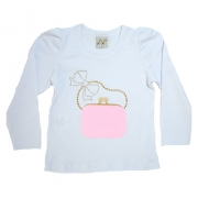 Blusa Infantil Bolsa Branca