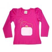Blusa Infantil Bolsa Pink