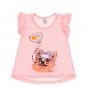 Blusa Infantil Dog Pompom Rosa